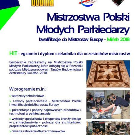 Mistrzostwa  młodych parkieciarzy – Poznań 2018 obrazek cykliniarze parkieciarze