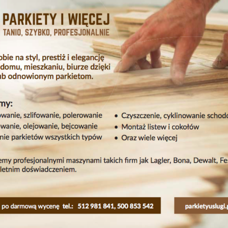 Renowacja podłóg i schodów drewnianych, montaż nowych podłóg obrazek cykliniarze parkieciarze aktualnosci