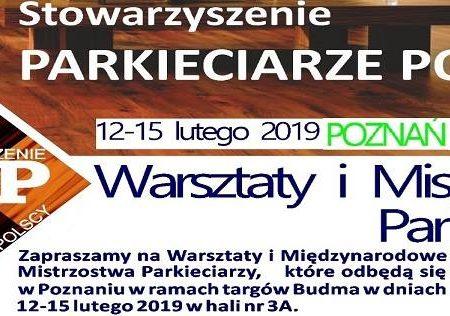 Warsztaty i Mistrzostwa Parkieciarzy – Budma Poznań 2019 luty 12-15 obrazek cykliniarze parkieciarze