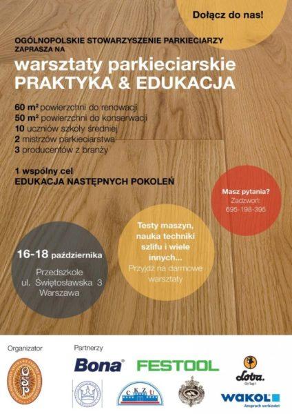 OSP zaprasza na warsztaty  praktyczno-edukacyjne 16-10.2019 Warszawa