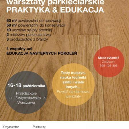 OSP zaprasza na warsztaty  praktyczno-edukacyjne 16-10.2019 Warszawa obrazek cykliniarze parkieciarze aktualnosci