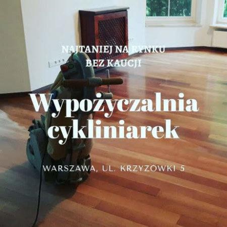 Wypożyczalnia cykliniarek Warszawa logo firmy