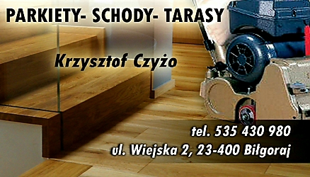 Usługi remontowo budowlane parkiety-schody-tarasy Krzysztof Czyżo logo firmy