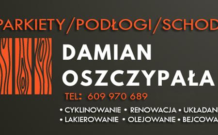 Parkiety Damian Oszczypała logo firmy