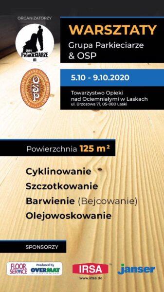 Warsztaty Grupy Parkieciarze  i OSP !!