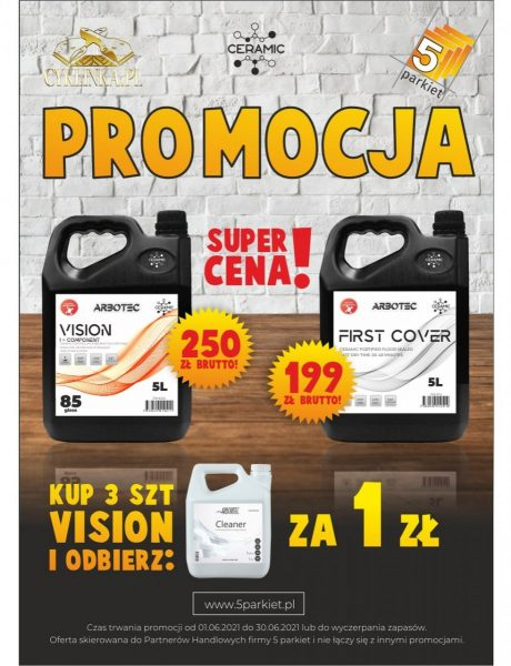 PROMOCJA  VISION + FIRST COVER